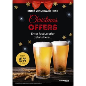 Christmas Pints Poster (A3)