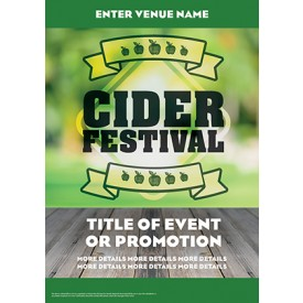 Cider Festival Green Poster (A4)