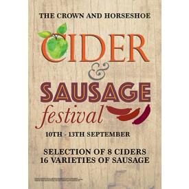 Cider & Sausage Festival Poster (A3)