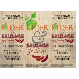Cider & Sausage Festival 3 Sided Table Talker (10 per pack)