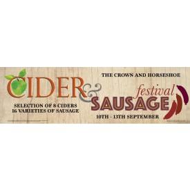 Cider and Sausage Festival Banner (Lrg)