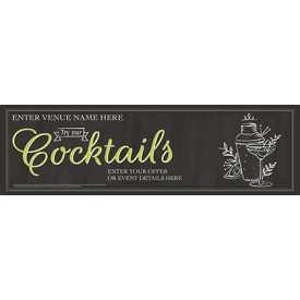 Summer Cocktails Banner (Chalk) (Lrg)