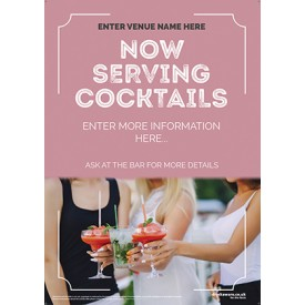 Summer Cocktails Flyer (Photo) (A5)