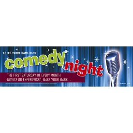 Comedy Night Banner (XL10')