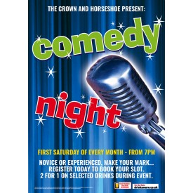 Comedy Night Poster (A3)