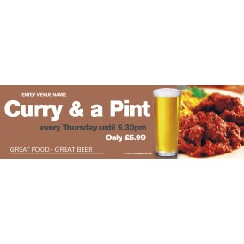 Curry & Pint Banner (Lrg)