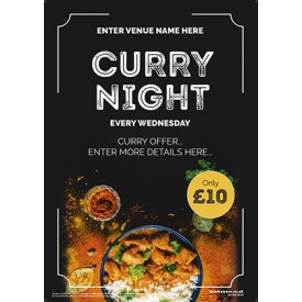 Curry Night Poster (photo) (A3)
