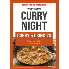 Curry Night Flyer (photo2) (A5)