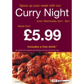 Curry Night Poster (A4)