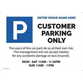 Editable Car park Sign (Correx) (A2)