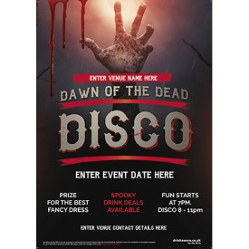 Halloween Disco Party Poster (Dawn of the Dead) (A4)
