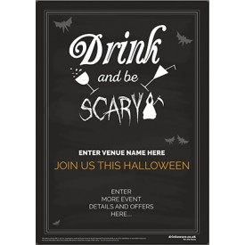 Halloween Drink and be Scary Poster