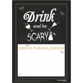 Halloween Drink and be Scary Empty Belly Poster