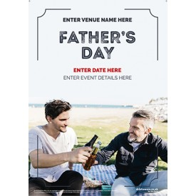 Father's Day 'Beer with Dad' Poster (A1)