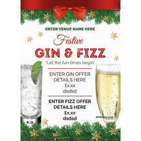 Christmas Gin & Fizz Poster (A3)