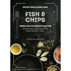 Fish & Chips (photo) Flyer (A5)