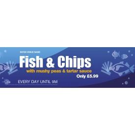 Fish & Chips Banner (Lrg)