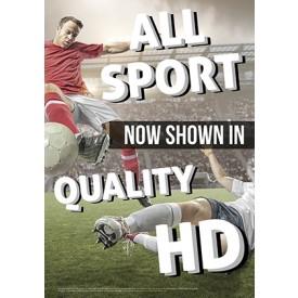Sport Shown in HD v1 Poster
