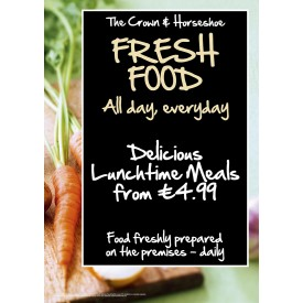 Fresh Food Poster (A4)