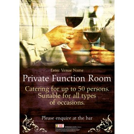 Function Room Correx Sign (1000 x 1500mm)