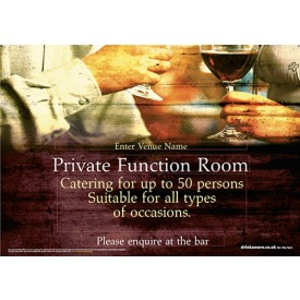 Function Room Correx Sign A0L
