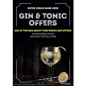 Gin & Tonic (photo) Flyer (A5)