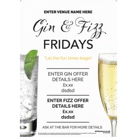 Gin & Fizz Poster (photo) (A4)