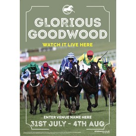 Goodwood Horse Racing (Photo) Poster (A3)