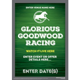 Goodwood Horse Racing (green) Flyer (A5)