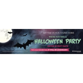 Halloween Party Banner (Bats) (Lrg)
