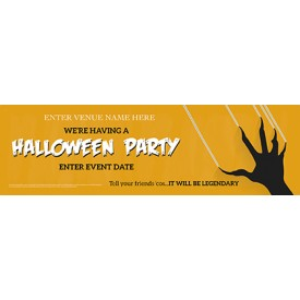 Halloween Party Banner (Claw) (Lrg)