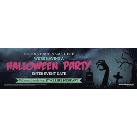 Halloween Party Banner (hands) (Lrg)