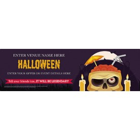 Halloween Cocktail Skull Banner