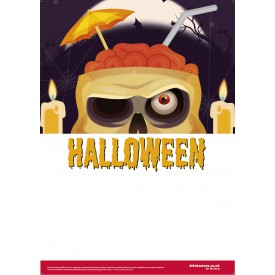Halloween Cocktail Skull Empty Belly Poster