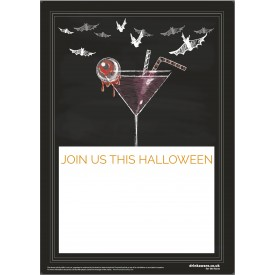 Halloween Cocktails Empty Belly Poster