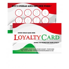 Italian Themed Loyalty Card