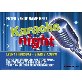 Karaoke Night Outdoor Sign (A0L)