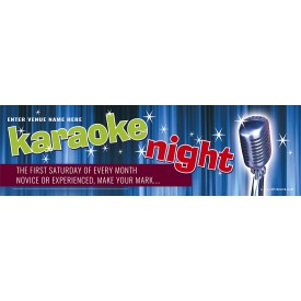 Karaoke Night Banner (XL10')