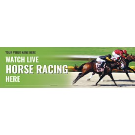 Watch Horse Racing Banner (Lrg)