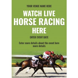 Watch Horse Racing Poster (A1)