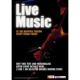 Live Music Here Poster (A4)