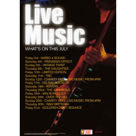 Live music 'What's On' Flyer (A5)