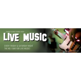 Live Music Here Banner (XL10')