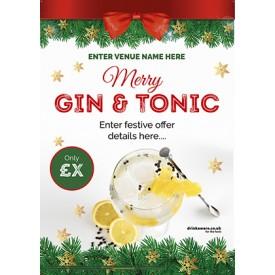 Christmas Gin & Tonic Poster (A2)