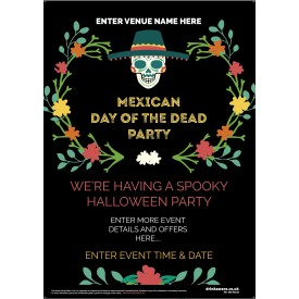 Halloween Mexican Day of the Dead Poster (A4)