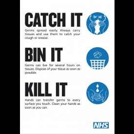 NHS Coronavirus Bin It Poster - DOWNLOAD ONLY