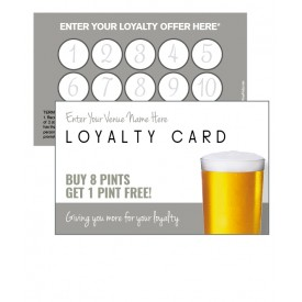 Pint Glass Loyalty Card