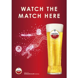 Amstel Football 'watch the match here' Generic Poster