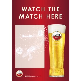 Amstel Football 'watch the match here' Empty Belly Poster