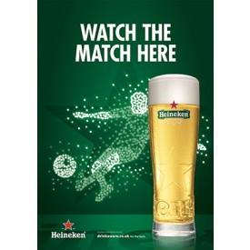 Heineken Football 'watch the match here' Generic Poster